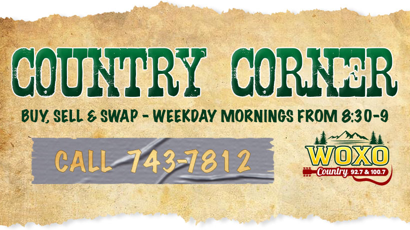 Country Corner on WOXO